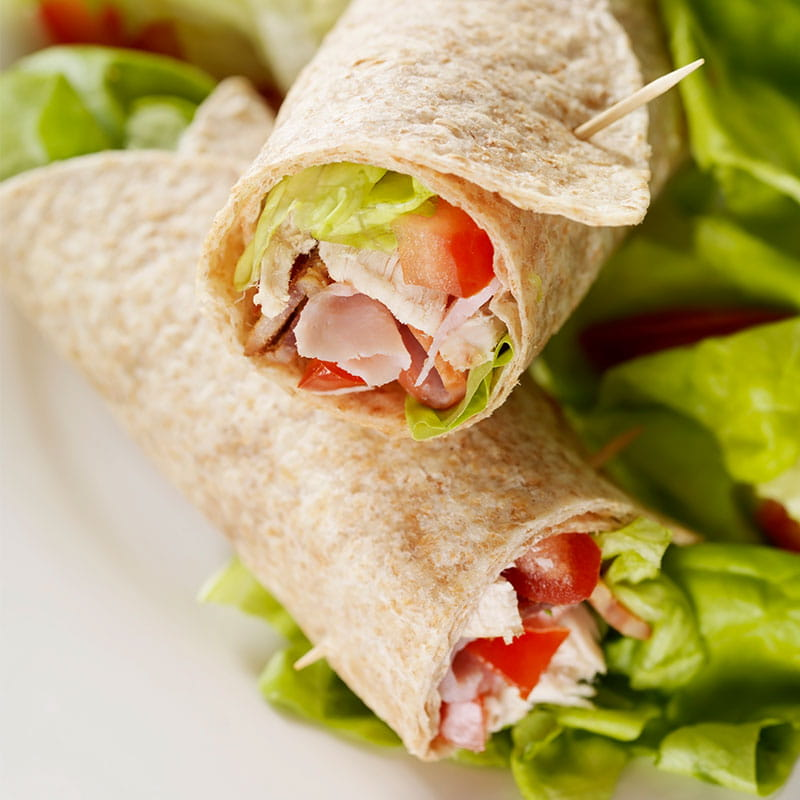 Wraps complet et sauce au curry